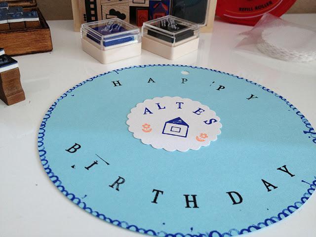 Geburtstagskarte stempeln