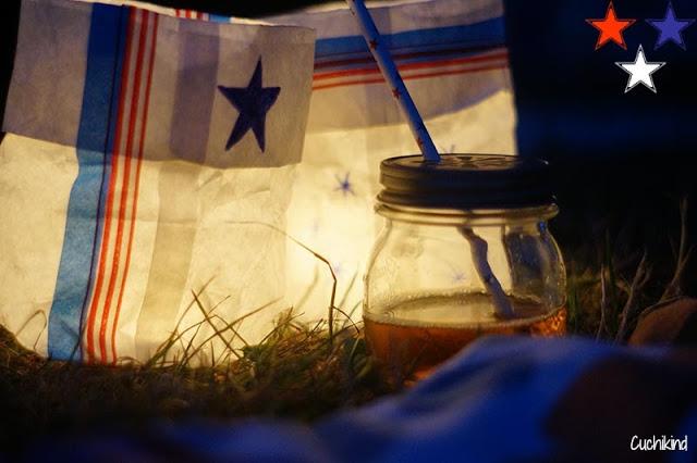Papierlichter für das Sommerpicknick