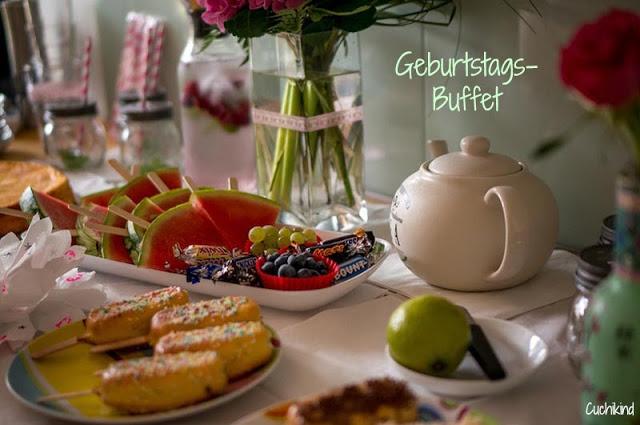 Geburtstagsbuffet Melone am Stiel