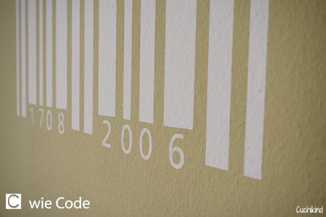 Wandtattoo Barcode