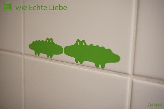 Wandtattoo Krokodil