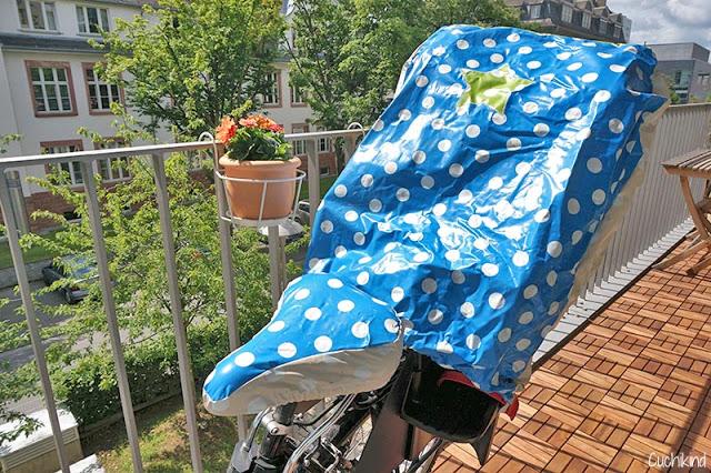 Fahrradkindersitzregenschutz selbst nähen