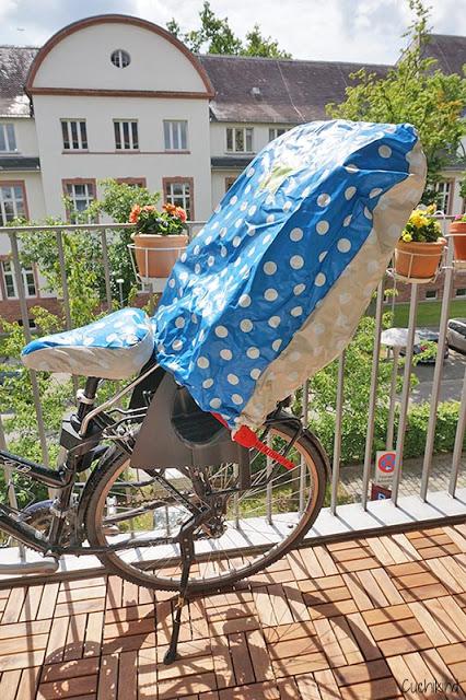 Regenschutz Fahrradsitz nähen