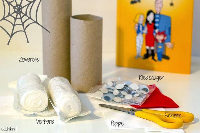 Mumien aus Toilettenpapier basteln