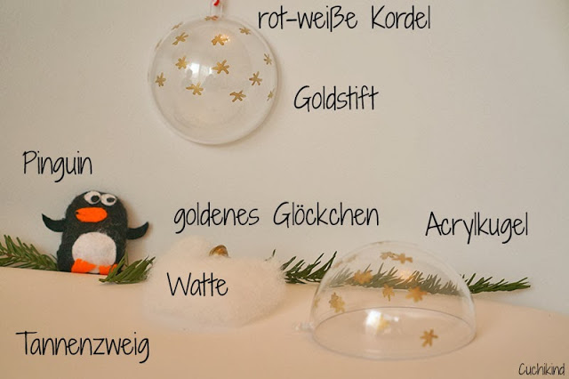Acryl-Weihnachtskugel