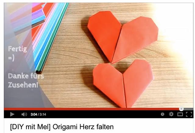 Origami-Herzen