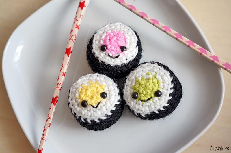 Häkelfood 2 Sushi Cuchikind