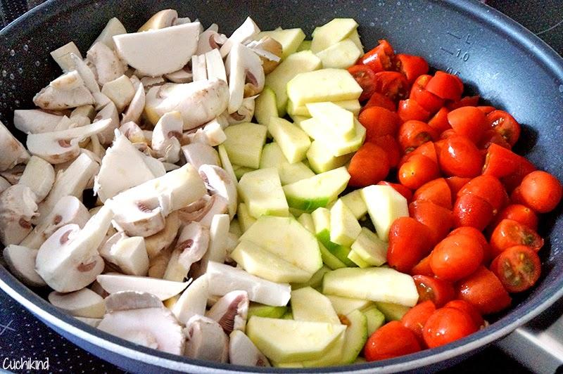 Pilze Zucchini Tomaten