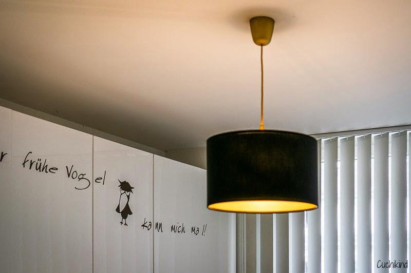 Ikealampe goldspray