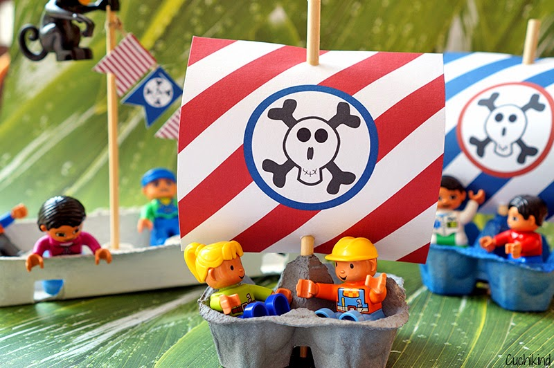 Piratenschiffe basteln