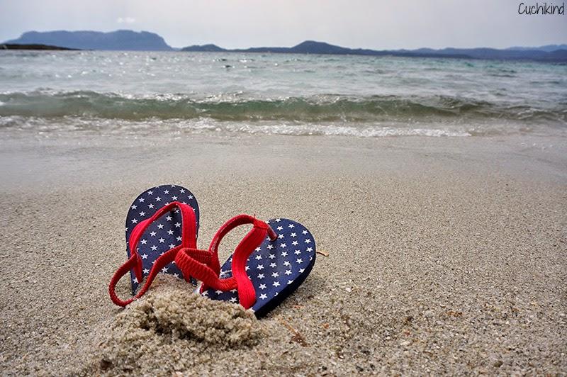 Flipflops im Sand