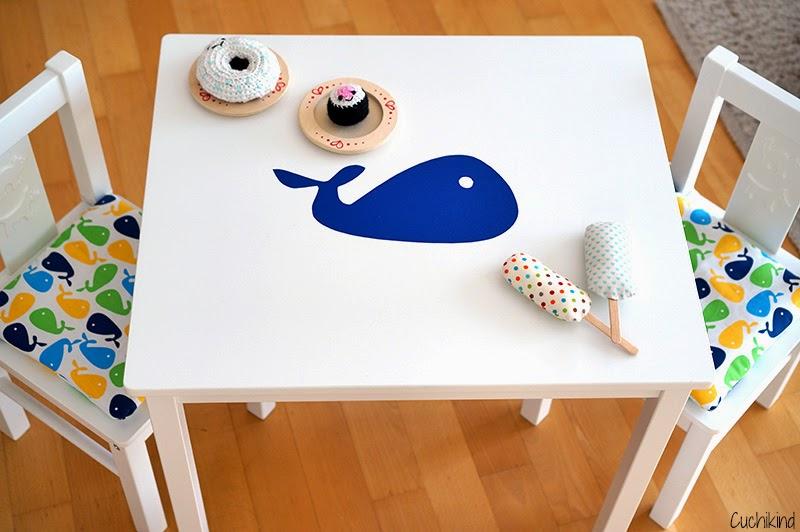 Stuhlkissen für Kindersitzgruppe Ikea