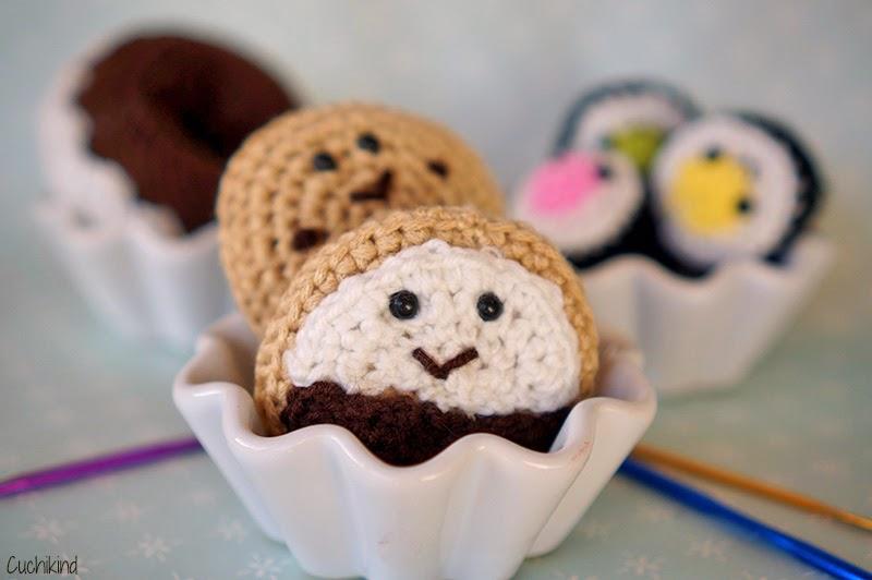 Häkelfood Kekse