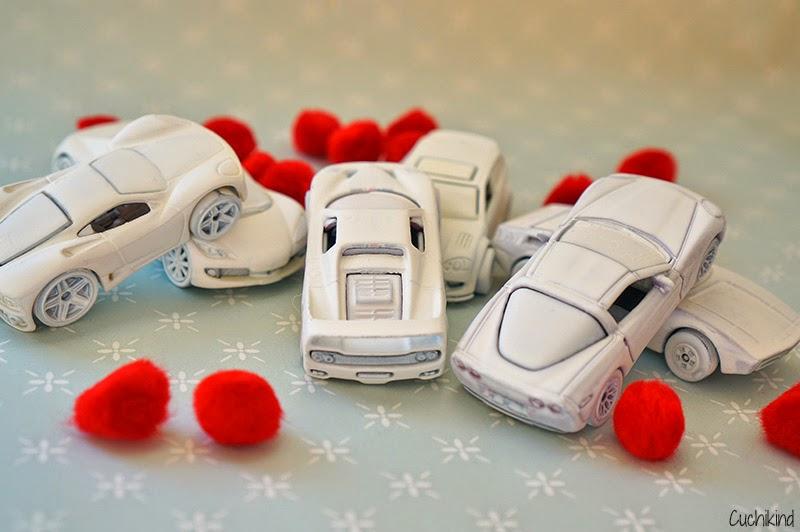 Autos weiß absprühen