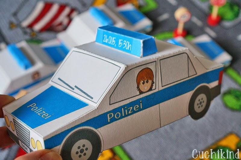 Einladung Polizeiauto