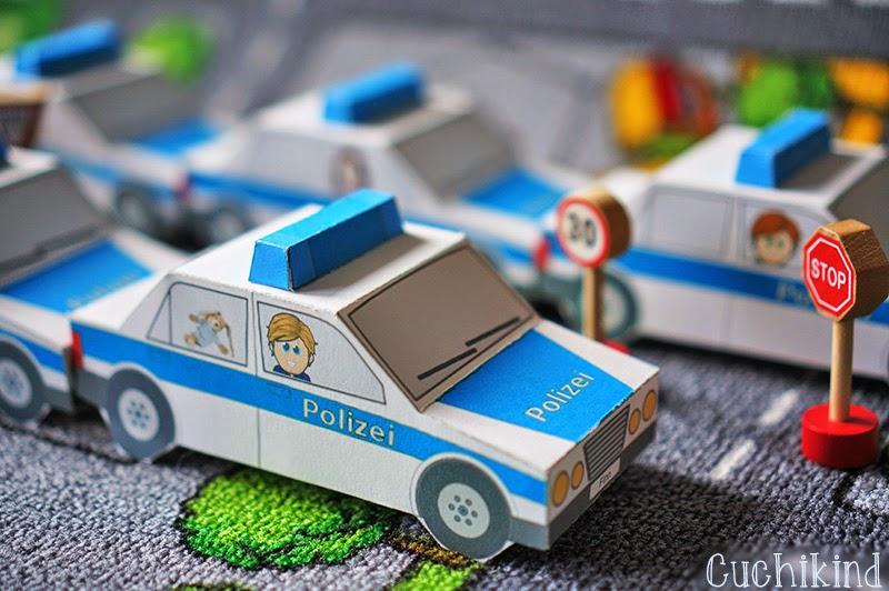 Polizeiauto zum Selberbasteln