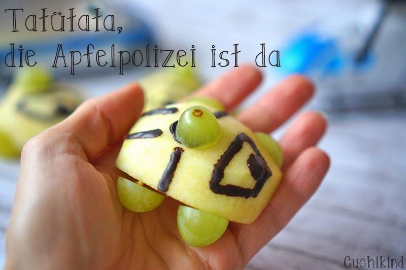 Apfel und Trauben