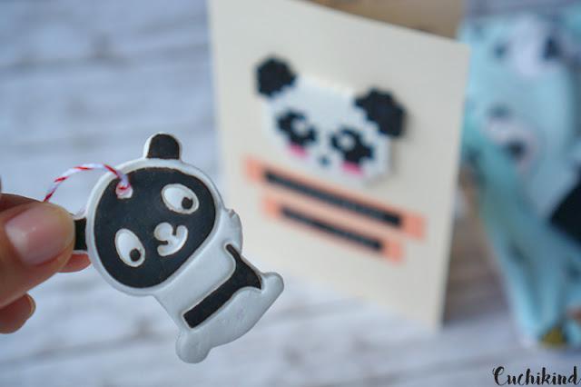 Panda aus Fimo