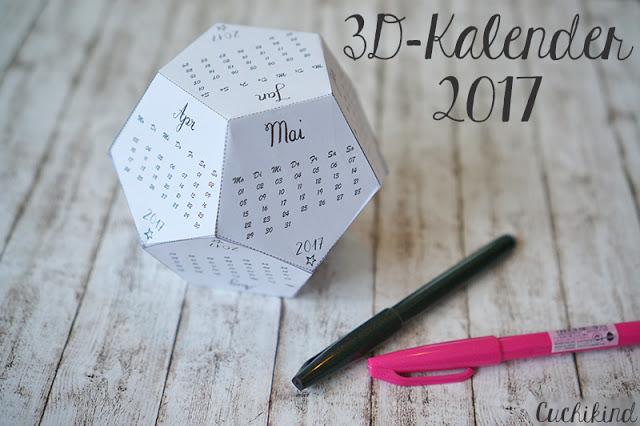 3d kalender 2017