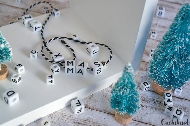 Buchstabenperlen Weihnachten