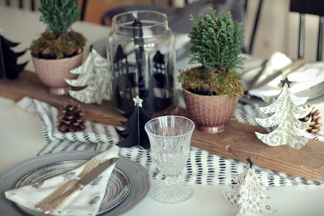 Weihnachtstisch Dekoration