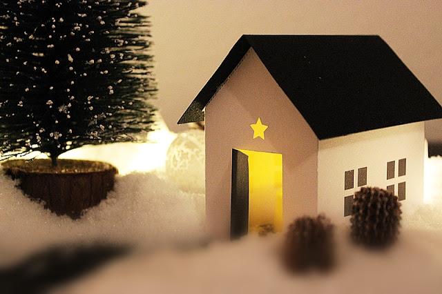 Weihnachtshäuschen basteln