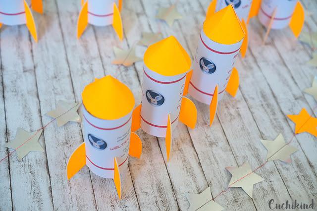 Raketeneinladung zum Geburtstag