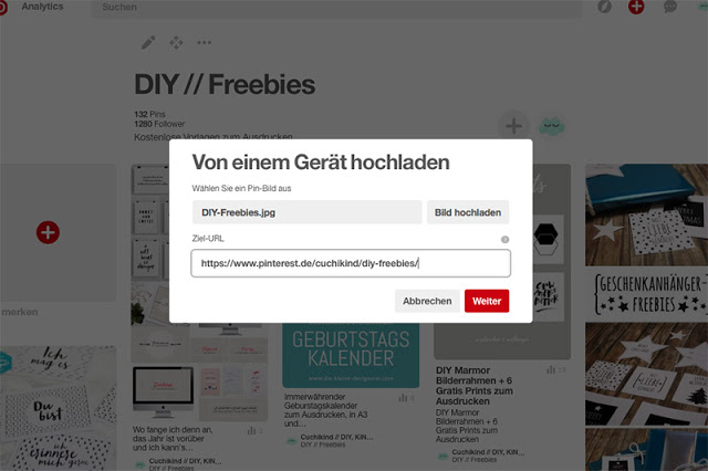 Anleitung Boardcover Pinterest