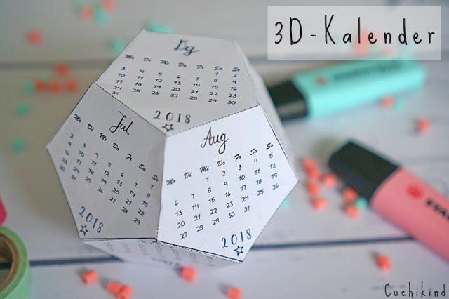 3d-Kalender ausdrucken