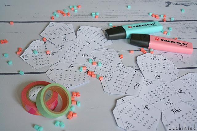 3d-Kalender basteln