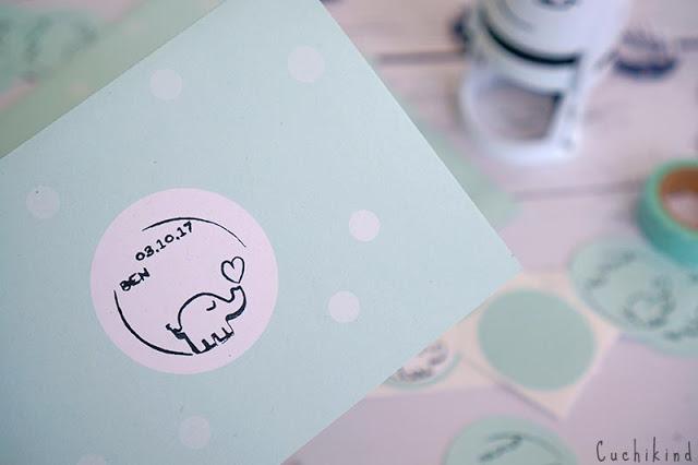 Babydankeskarten selber machen