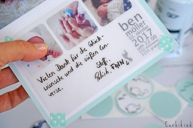 Geburtskarten selber machen