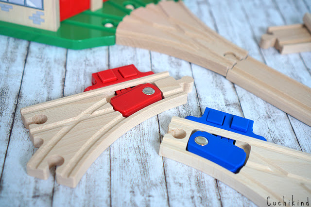 Weichen Holzeisenbahn
