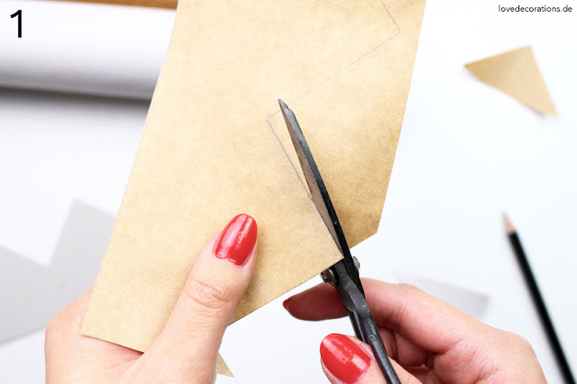 Schritt-für-Schritt Anleitung Papiersterne