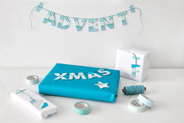 Geschenkverpackung Washi Tape