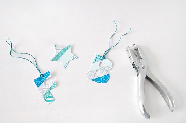 Buchstabenanhänger Washi Tape