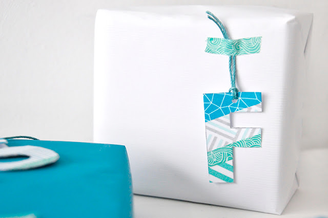 Buchstaben aus Washi Tape