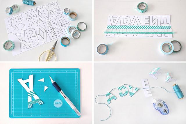 Anleitung Buchstaben Washi Tape