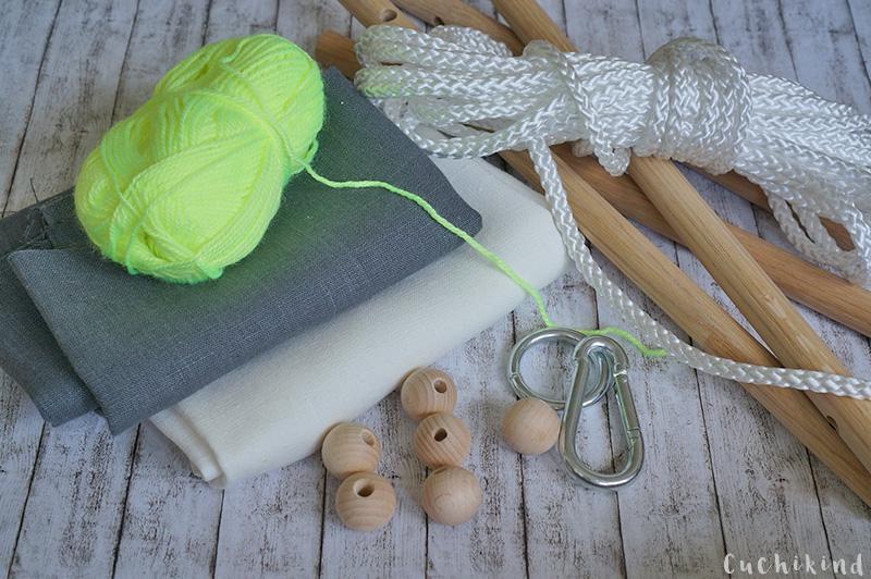Materialien für eine Babyschaukel