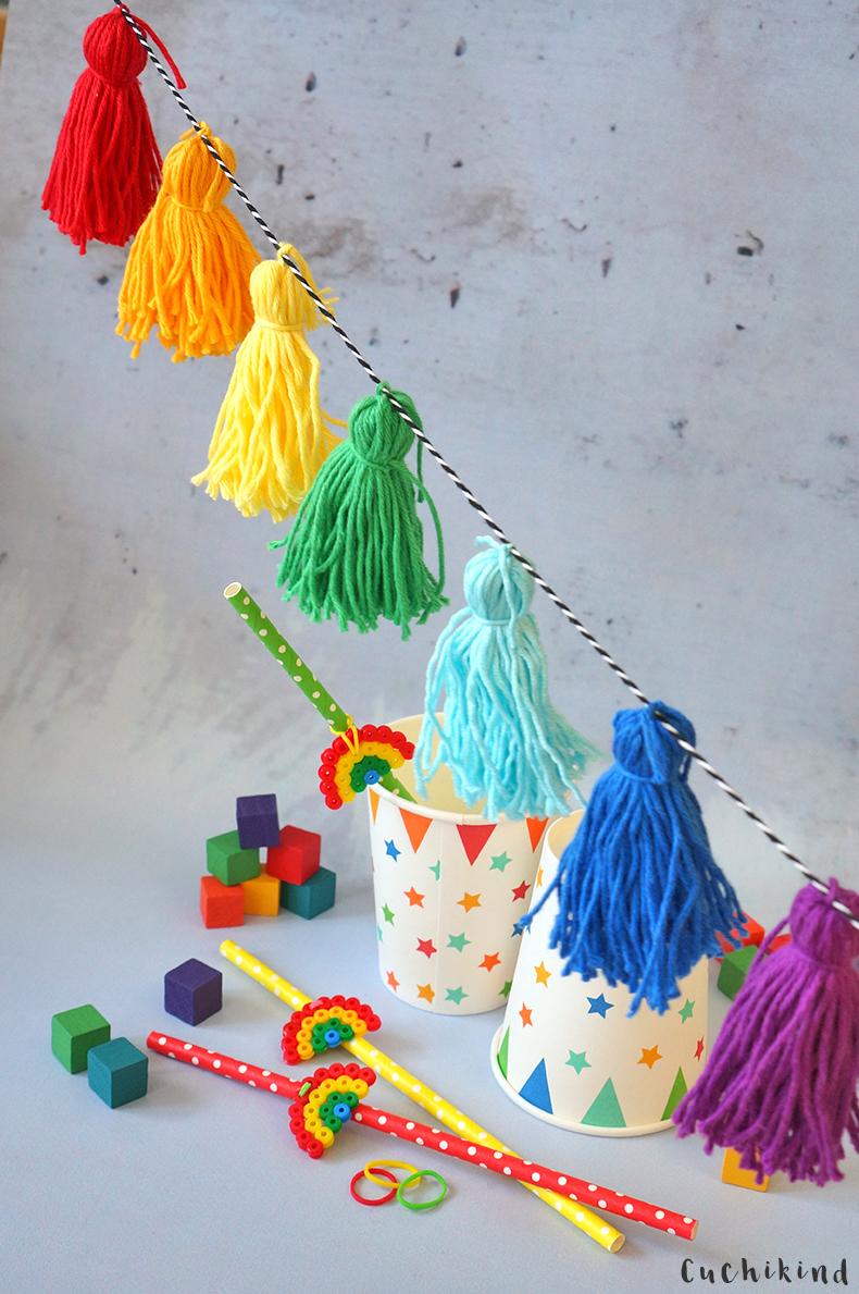 Tasselgirlande Regenbogen