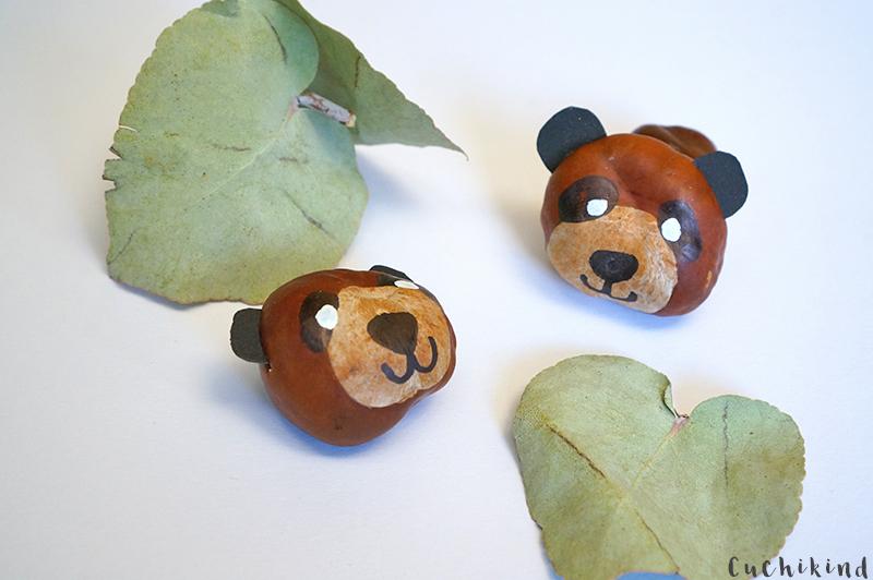 Panda aus Kastanien