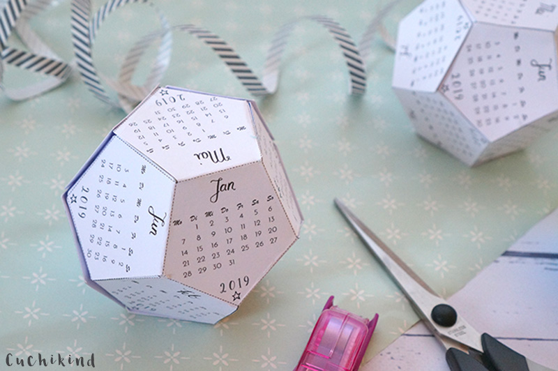 kalender 2019 basteln