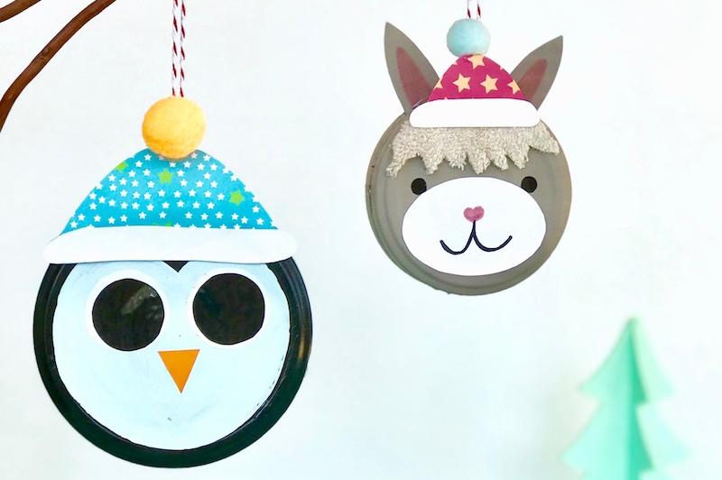 Tierische Anhänger für den Weihnachtsbaum