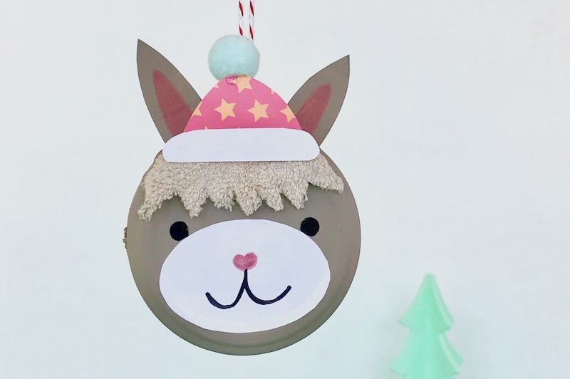 Alpaka Weihnachtsbaumanhänger
